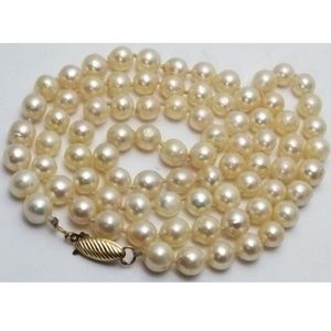 """Jewelry - VTG 27"""" Japanese Saltwater Cultured Pearl Necklace"""